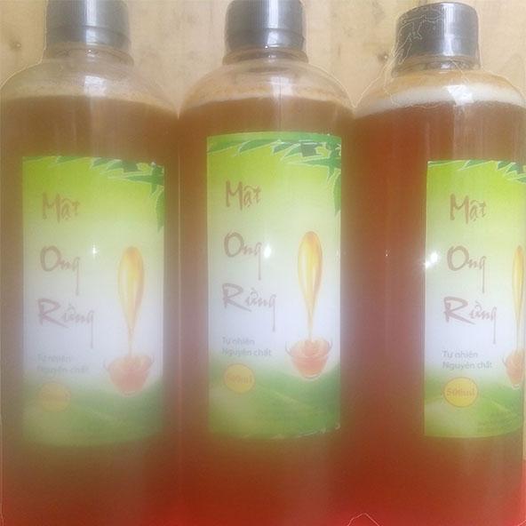 Sản phẩm mật ong Tây Nguyên đóng chai