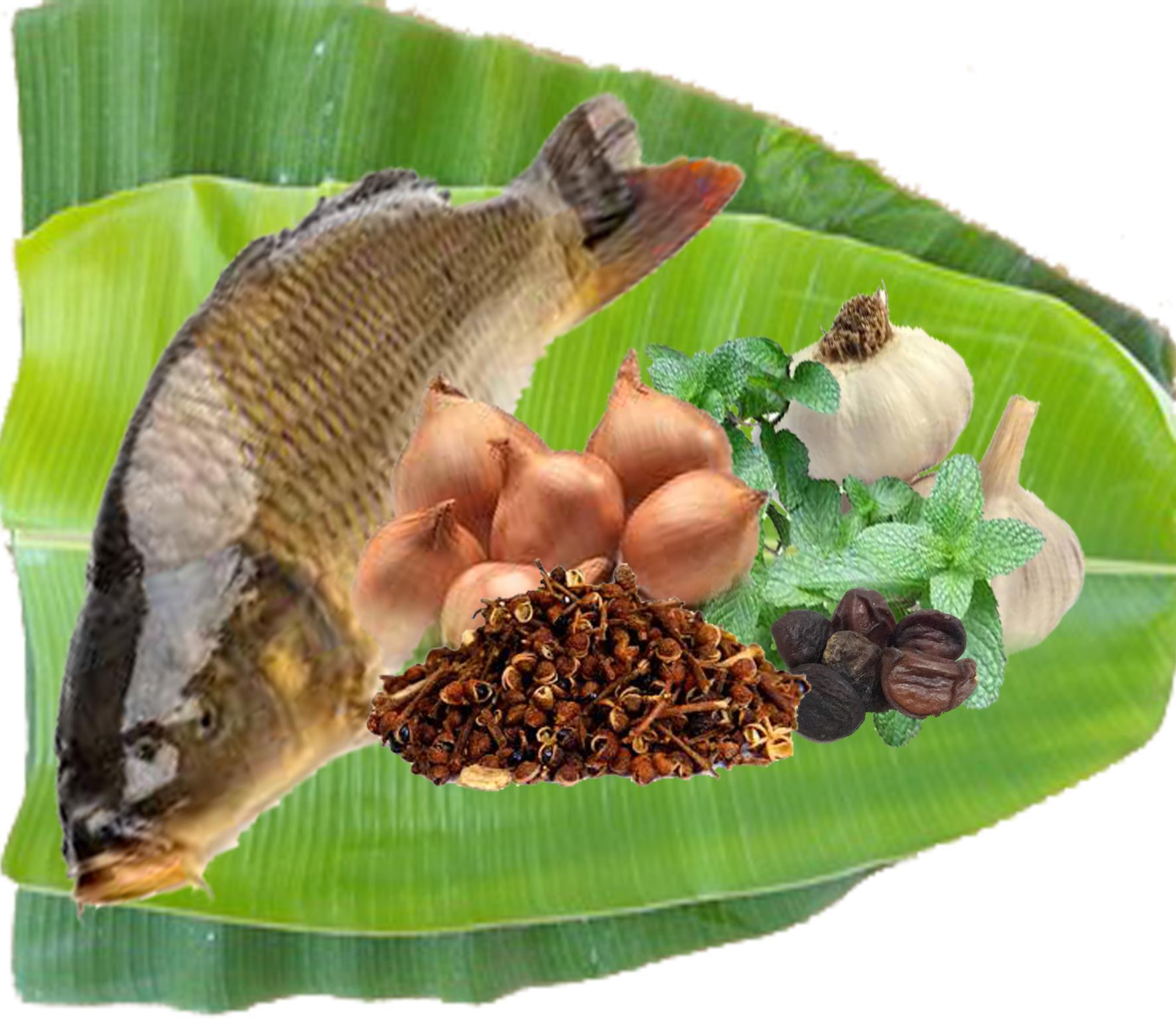 Cá nướng pa pỉnh tộp Tây Bắc